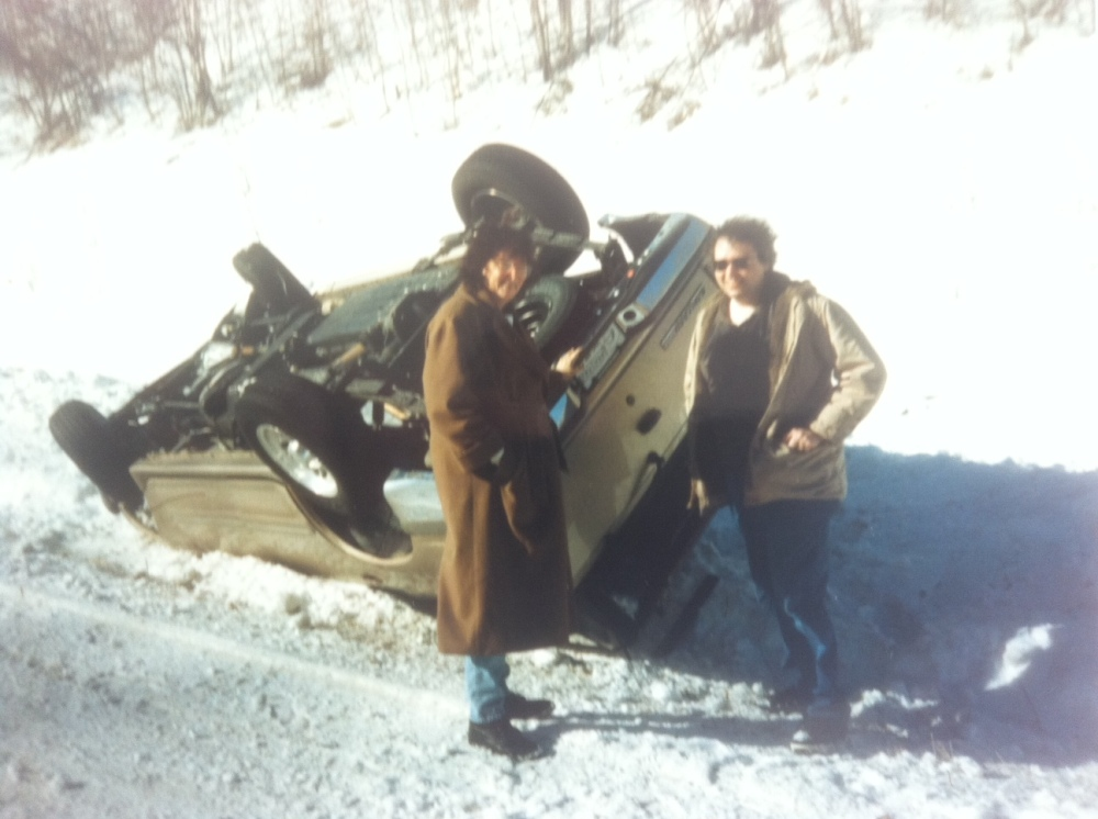 Alaska - Another roadside attraction - Dave and I