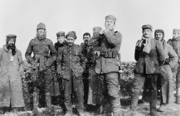 The Christmas Truce of 1914: German and British soldiers stand together in No Man's Land on the Western Front