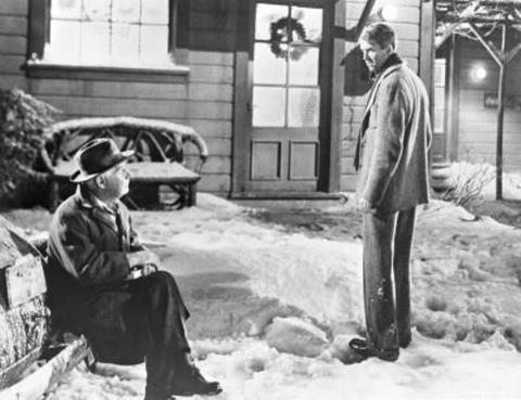"""You've been given a great gift, George! A chance to see what the world would be like without you."" (Henry Travers and Jimmy Stewart, ""It's a Wonderful Life."""