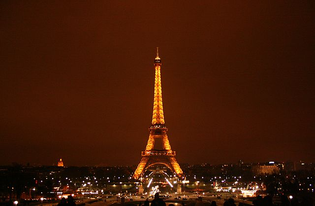 The Eiffel Tower in the City of Lights, Paris.