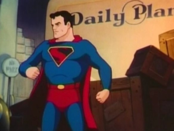 "Still frame from the animated cartoon ""Superman: Billion Dollar Limited"" (1942)"