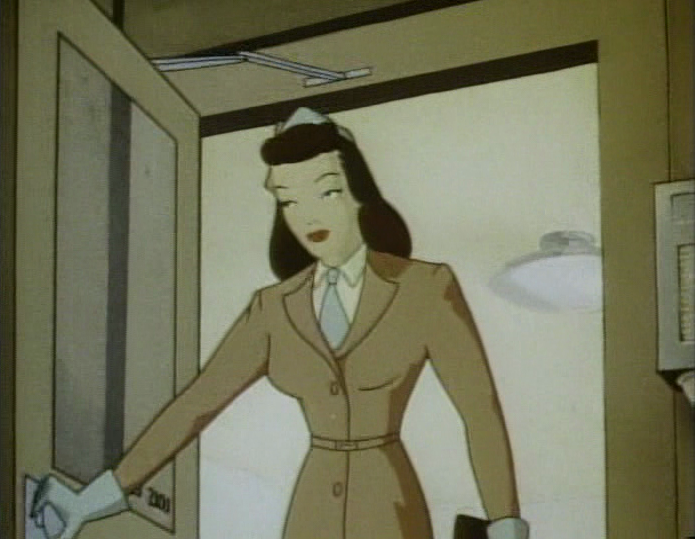 "Reporter Lois Lane in a scene from the cartoon, ""The Arctic Giant"" (1942)"