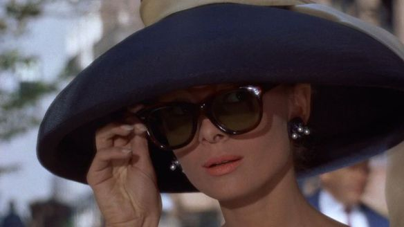 Audrey Hepburn (as Holly Golightly) in Breakfast at Tiffany's