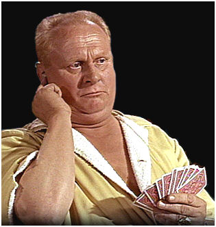 Goldfinger's scam discovered, and he's told to start losing.