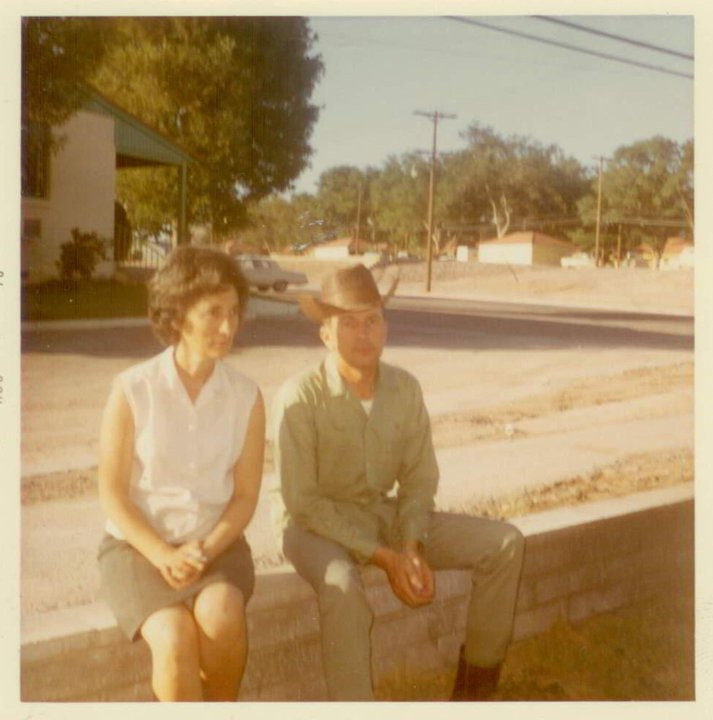 Mom and Dad outside their home in Boulder City, Nevada