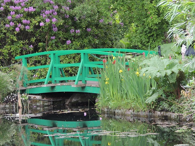 Japanese-style bridge in Claude Monet's Gardens