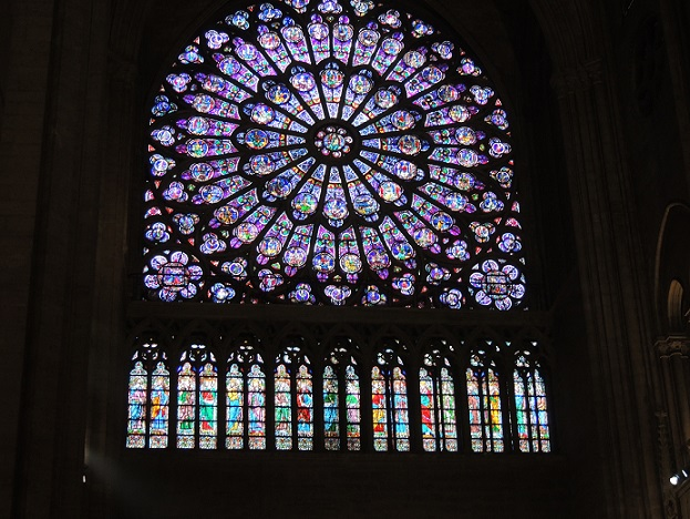 stained-glass window, Notre Dame Cathedral