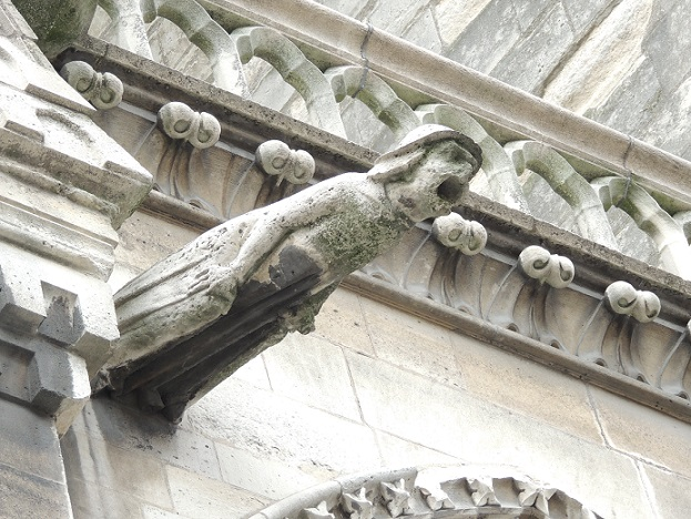 Architect Eugene Violet-le-Duc playfully added his own image for one of the gargoyles.