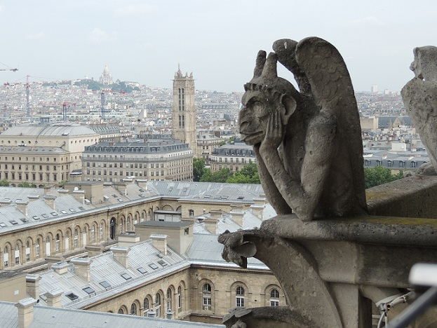 Gargoyles and Chimeras of Notre Dame Cathedral, Paris (1/6)
