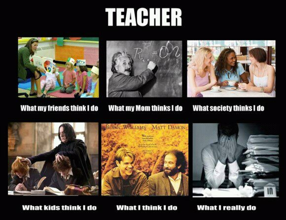 Teacher - what people think I do