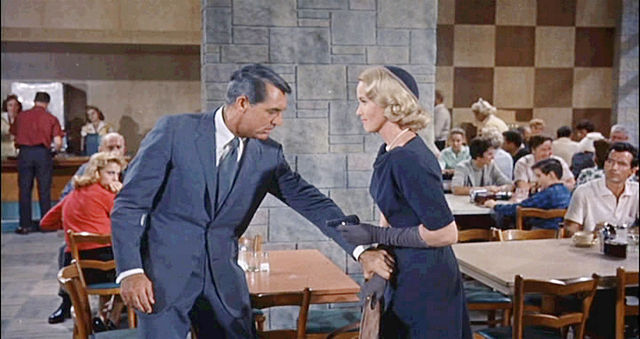 North by Northwest - Eva Marie Saint shooting Cary Grant