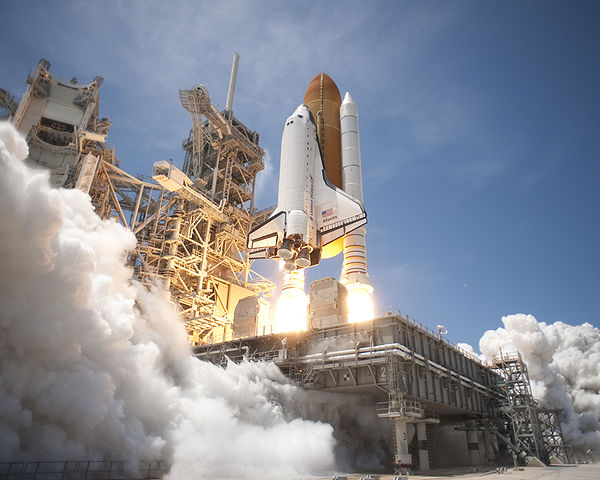 Space Shuttle Atlantis launches from KSC