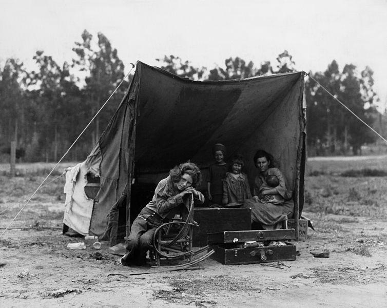 Migrant worker's family, Nipomo, California