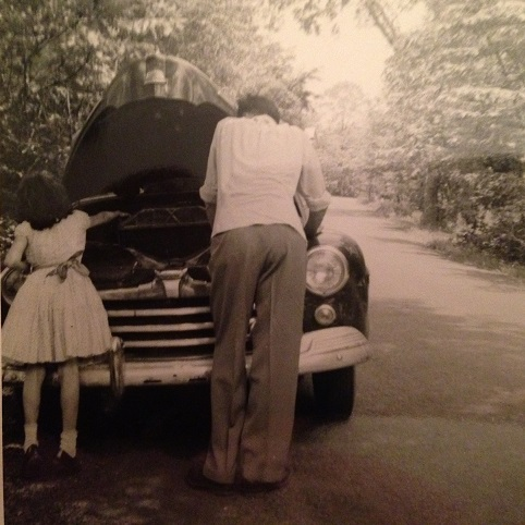 Dad and me - overheated car - fixing