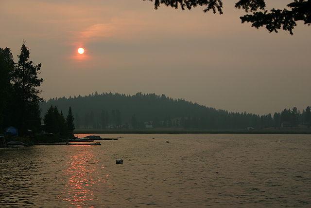 Loon Lake, Washington - sunset