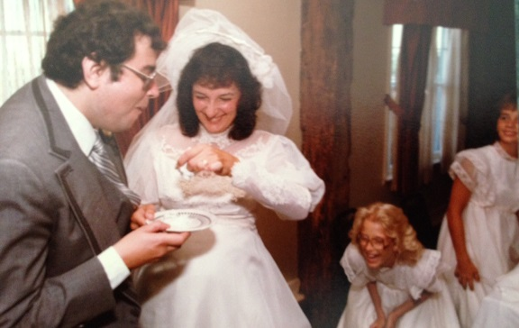 Dave and Judy - our wedding day - Aug. 18, 1984