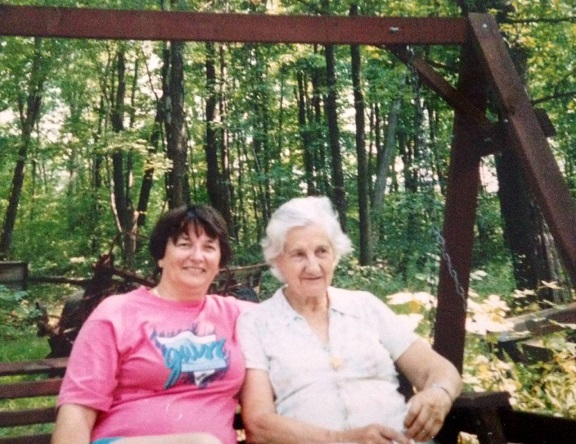 Judy and Aunt Martha2 - Aug. 1993