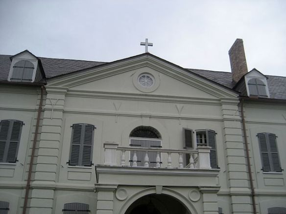 Old Ursuline Convent, French Quarter - Chartres side balcony above entrance