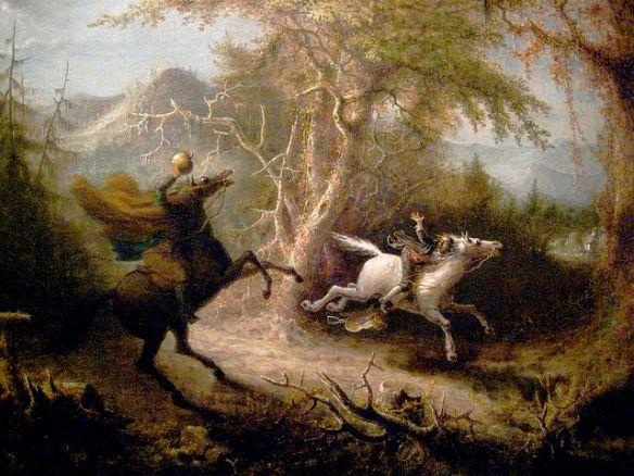 Sleepy Hollow - The Headless Horseman Pursuing Ichabod Crane