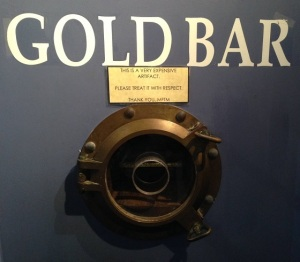 gold bar at Mel Fisher's Museum, Sebastian, Fl