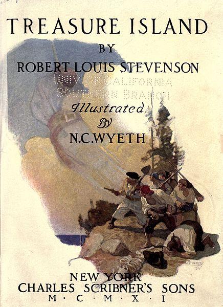 Treasure Island - book cover - 1911