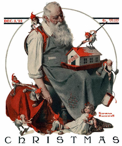 Santa Claus - Norman Rockwell - Saturday Evening Post - 1922