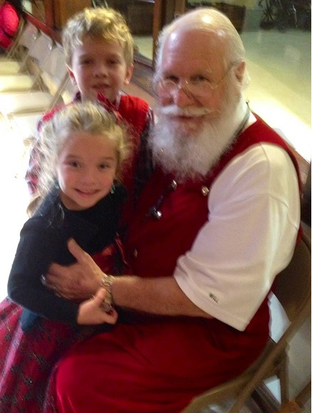 Santa - Lily and J. J. - Dec. 14, 2014 at Ascension Catholic