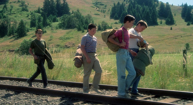 Stand By Me - movie - boys on railroad tracks
