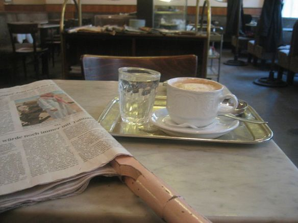 Coffee in a cafe - 2004