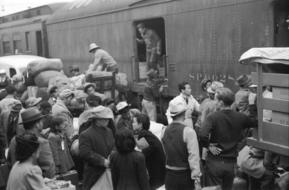 Internment camp - Japanese-Americans during WWII