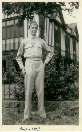 Dad - Joseph H. Fiet III - in the Army - 1943