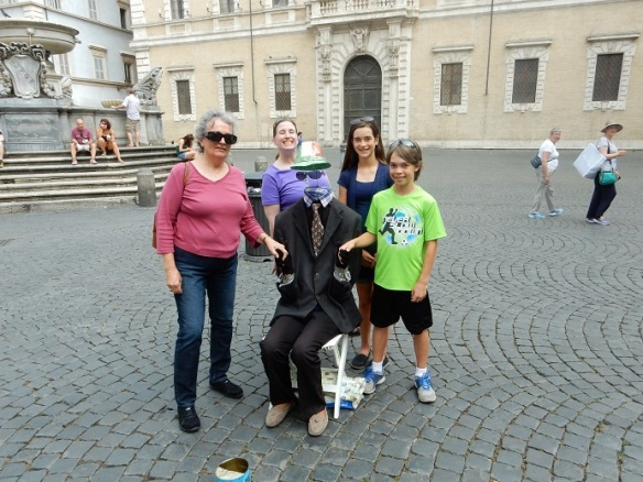 Rome - family vacation - June 2015 (76) - invisible woman with Judy, Jenn, Kaitlyn & Connor