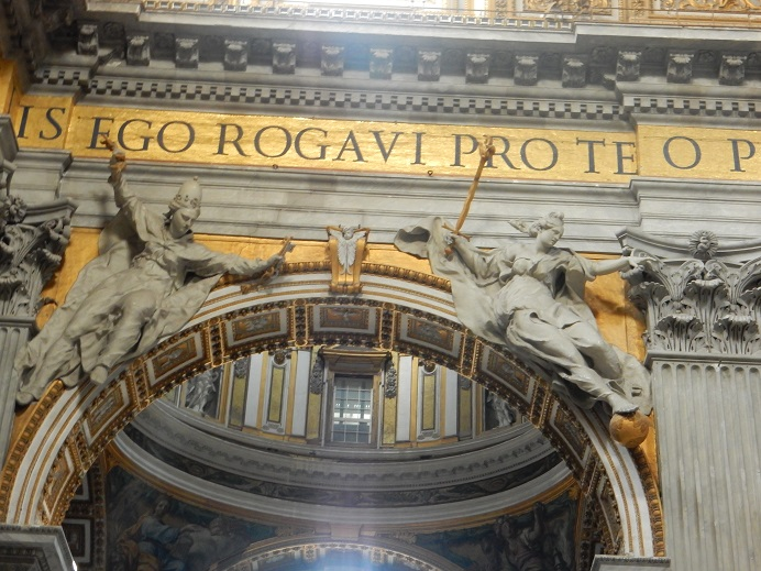 Rome - family vacation - Vatican - June 2015 (63) - letters are 7-foot tall, quotes from Jesus to Peter in the Bible