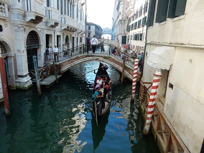 Venice - gondola and bridge