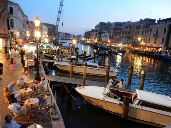 Venice - nightlife along the Grand Canal