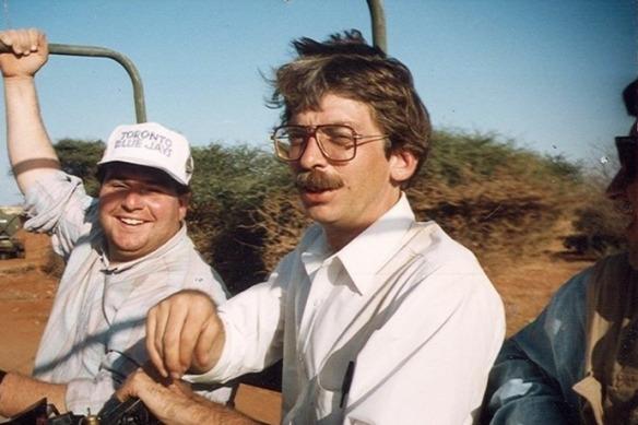 Bill Carey in jeep