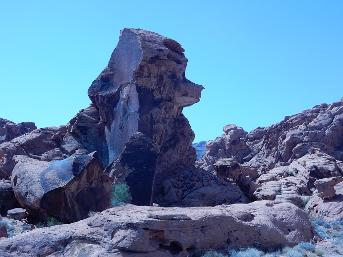 A rock formation that some think look like a poodle