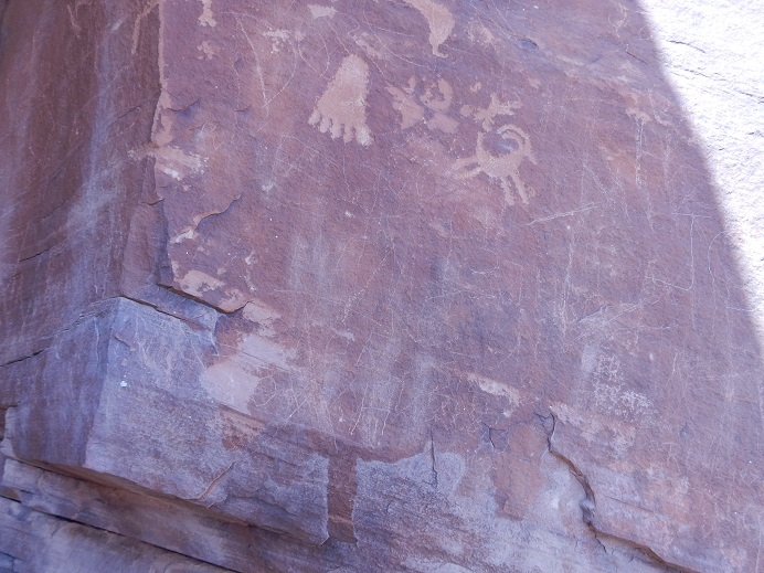 petroglyphs - ancient writings in the desert