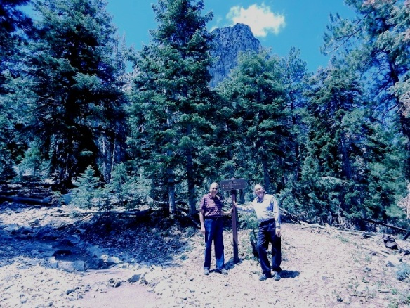 My brother, Hank, and my hubby, Dave, in Cathedral Rock and Mt. Charleston Trailhead