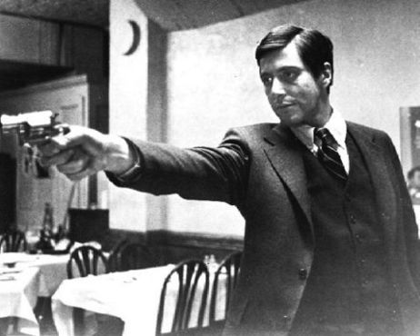 The-Godfather-Michael Corleone at restaurant