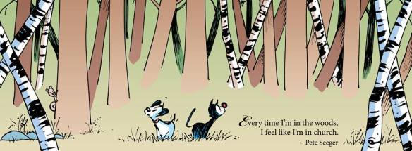 Walk in the woods - Pete Seeger - Mutts Comics - 9-2-15