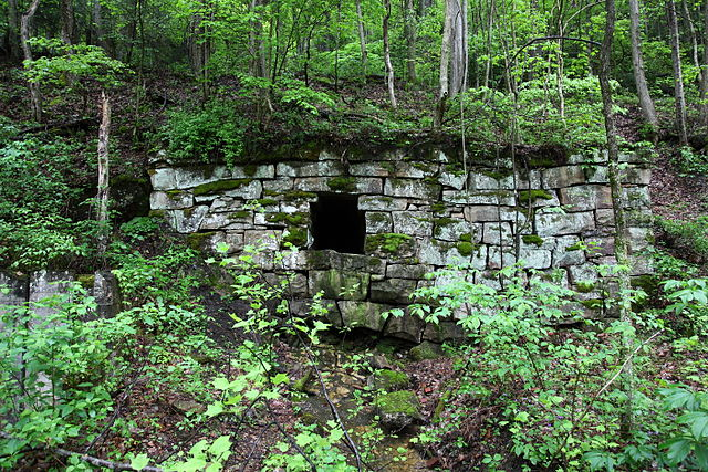 Wall - Old abandoned mine - West Virginia forest