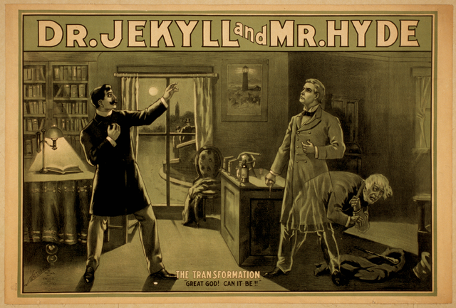 Dr. Jekyll and Mr. Hyde - poster - public domain