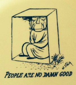 People are no Damn Good - plate - artisit - W. Steig