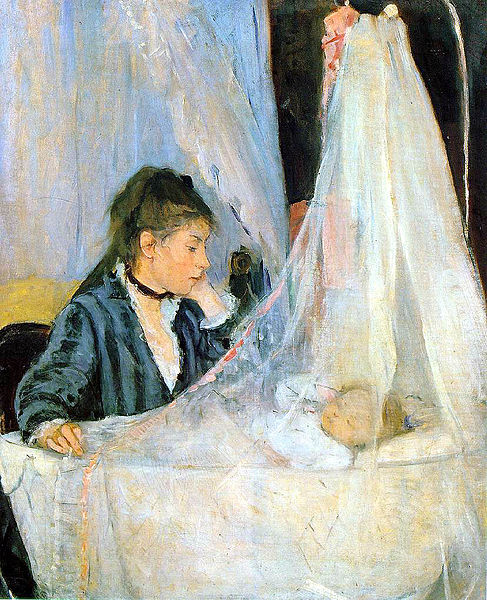 Berthe Morisot - painting of The Cradle - 1872